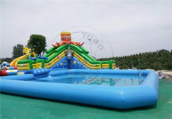 章魚(yu)水滑梯充氣水池